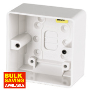 MK 1-Gang Surface Pattress Box White 40mm