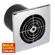 Manrose LP100ST 20W Ceiling / Wall Mounted Extractor Fan + Timer