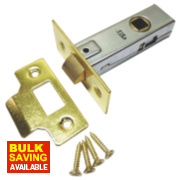Tubular Latch Electro Brass 63mm