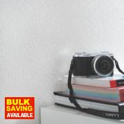 Super Fresco Professional Capri Wallpaper White gsm 520mm x 10m