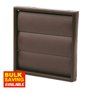 Manrose Square Flap Vent Brown 100mm