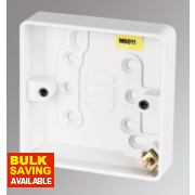 MK 1-Gang Surface Pattress Box White 16mm