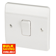 MK 1-Gang 1-Way 10AX Light Switch White