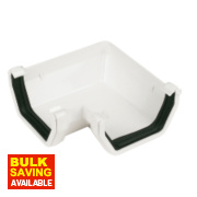 Square Line 90° Gutter Angle White