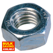 Easyfix Hex Nuts BZP Steel M12 Pack of 100