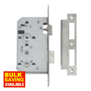 Union 72mm Din Bathroom Mortice Lock Stainless Steel 60 x 24mm