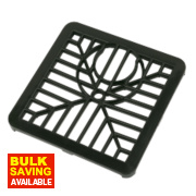 Gulley Grid Black 150 x 150mm