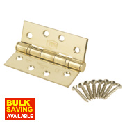 Smith and Locke Square Ball Bearing Hinge Stainless Brass 102 x 76mm Pk2