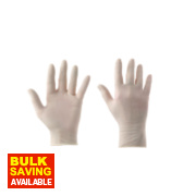 Cleangrip Latex Powdered Disposable Gloves White Large Pk100