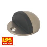 Oval Door Stops Satin Nickel Pack of 2