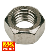 Hex Nuts A2 Stainless Steel M6 Pack of 100