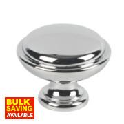 Fingertip Design Shaker Cabinet Door Knob Polished Chrome 35mm