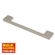 Fingertip Design Slim D Handle Satin Nickel 128mm