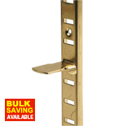Bookcase Supports Electro Brass Pack of 10