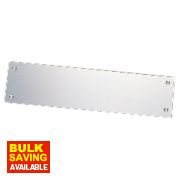 Finger Plate Rectangular Plain Aluminium
