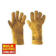 Keep Safe Professional Welders Gauntlets Yellow Large