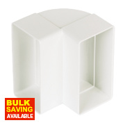 Manrose Vertical 90° Bend White 100mm