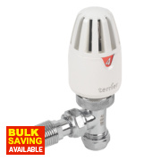 Pegler Terrier II White & Chrome TRV 15mm Angled