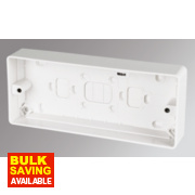 MK 3-Gang Surface Pattress Box White 30mm