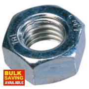 Easyfix Hex Nuts BZP Steel M10 Pack of 100