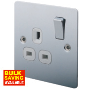 LAP 13A 1-Gang DP Switched Plug Socket Polished Chrome