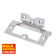 Flush Hinge Polished Chrome 33 x 76mm