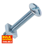 Roofing Bolts BZP M6 x 40mm Pack of 10