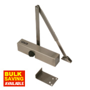 Briton 2003SSS Overhead Door Closer Satin Stainless Steel