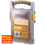 TurboGold Woodscrews Trade Grab Pack Double-Self-Countersunk 1000Pcs