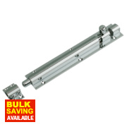Straight Door Bolt Polished Chrome 152mm