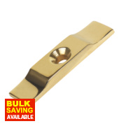 Turn Button Cabinet Catch Brass 38mm Pack of 10