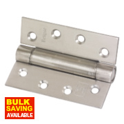 Adjustable Self-Closing Hinges Satin Stainless Steel 76 x 102mm Pack of 2