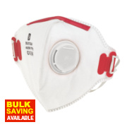 Fold Flat Dust Mask Valved P3 Single