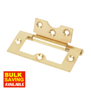 Eclipse Flush Hinge Electro Brass 75 x 38mm
