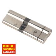 Yale Anti-Snap Euro Double Cylinder Lock 50-45 (95mm) Brushed Nickel