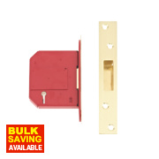 Union BS 5-Lever Mortice Deadlock Brass 3