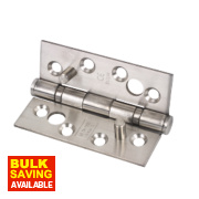 Grade 13 Security Hinges Satin Stainless Steel 76 x 102mm Pack of 2