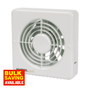 Manrose MG150BS W Long Life Axial Bathroom Extractor Fan
