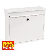 Sterling Elegance Rectangular Post Box White Powder-Coated