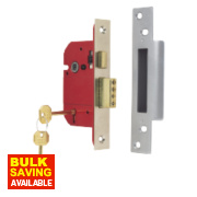 ERA 5-Lever Mortice Sashlock Satin Nickel 2.5