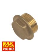 Brass Flanged Plug ¾