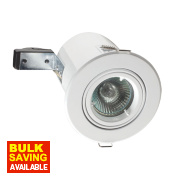 Robus Adjustable Round Low Voltage Fire Rated Downlight White 12V