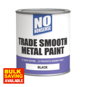 No Nonsense Quick-Dry Smooth Metal Paint Black 750ml