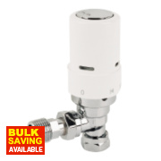 Danfoss RAS-D² White & Chrome TRV 8/10/15mm Angled