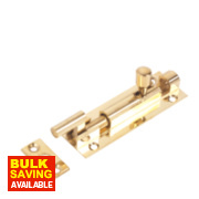 Necked Bolt Polished Brass 76mm