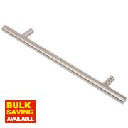 Fingertip Design Steel T-Bar Cabinet Door Handle Brushed Nickel 160mm