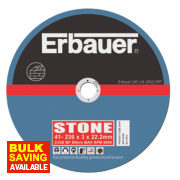 Erbauer Stone Cutting Discs 230 x 3 x 22.23mm Pack of 5