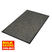 Vyna-Plush Entrance Mat 0.9m x 1.5m Black/Steel
