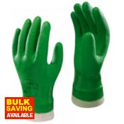 Showa 600 PVC Waterproof Gloves Green Medium