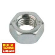 Easyfix Hex Nuts BZP Steel M16 50 Pack